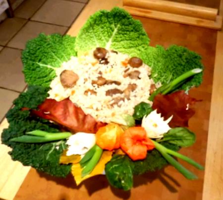 Risotto-con-castagne-mix-di-verdure-e-salame-di-capra