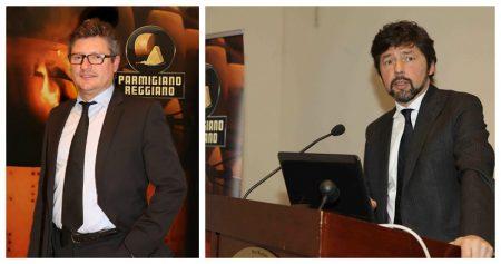 Alessandro Bezzi e Riccardo Deserti, rPresidente e direttore del Consorzio Parmigiano Reggiano
