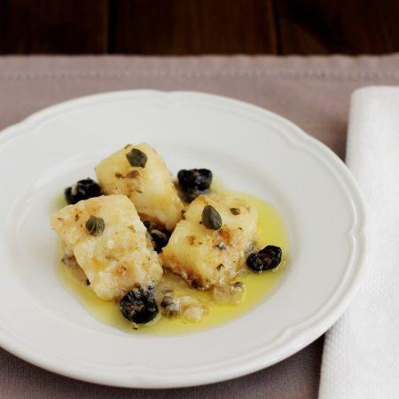 Baccalà al Marsala con olive nere