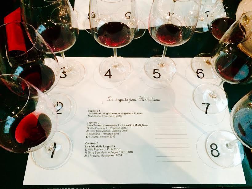 Degustazione Vino Sangiovese di Romagna, prodotto a Modigliana
