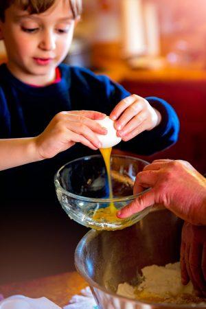 Psicologia dei colori del cibo, bambini in cucina