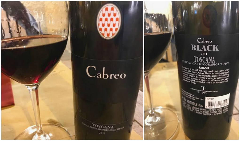 Degustazione Folonari Cabreo Black 2011