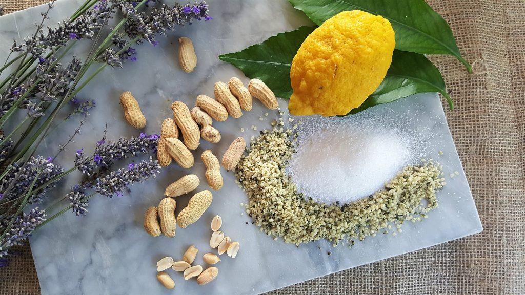 Croccante di arachidi e semi di canapa al profumo di lavanda