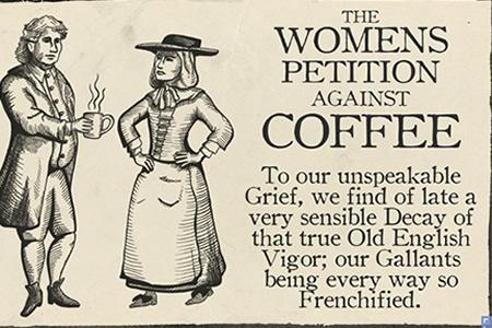 Petizione delle donne contro il caffè