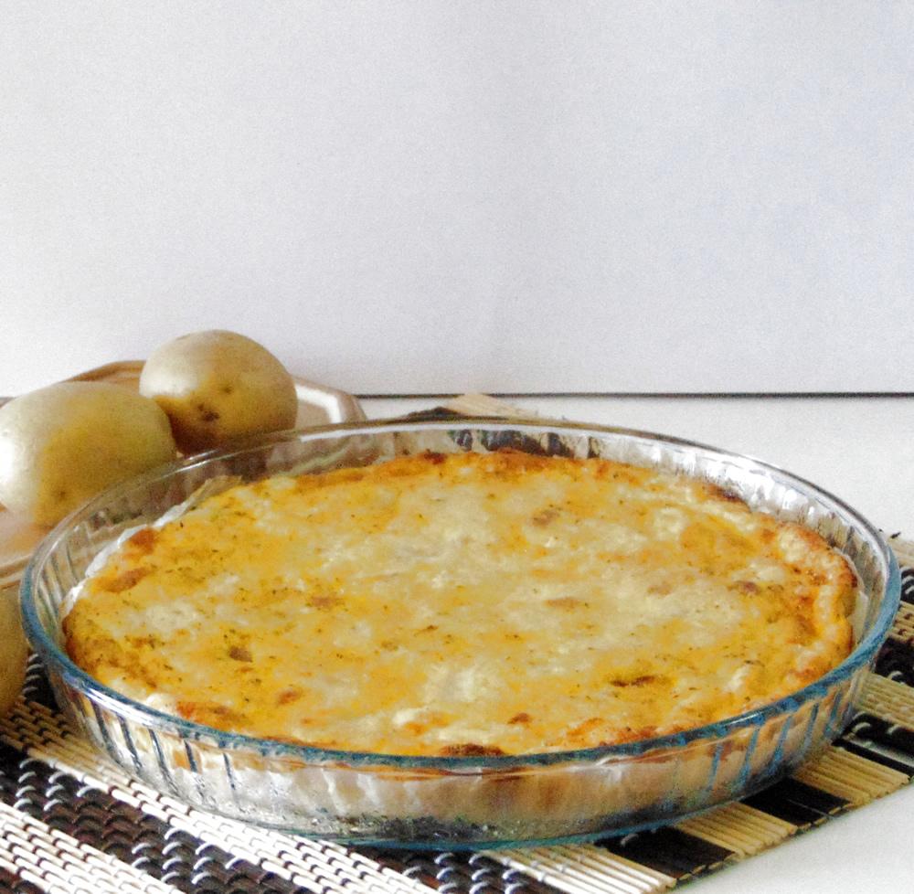 Frittata con patate, ricotta e pancetta