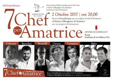 7 Chef per Amatrice, a Roma l'alta cucina