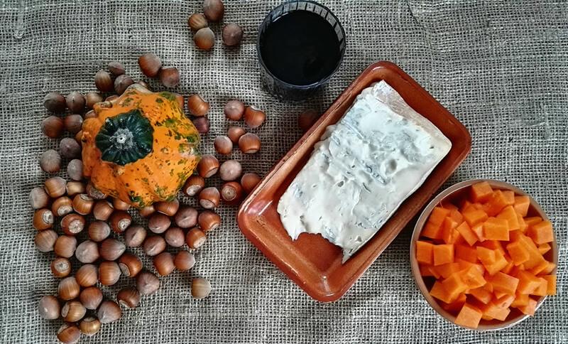 Crostata salata di zucca, nocciole e gorgonzola