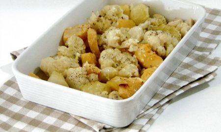 Sformato di zucca, patate e cavolfiore