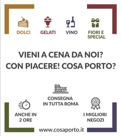 Cosaporto, consegna di cibo di qualità a Roma