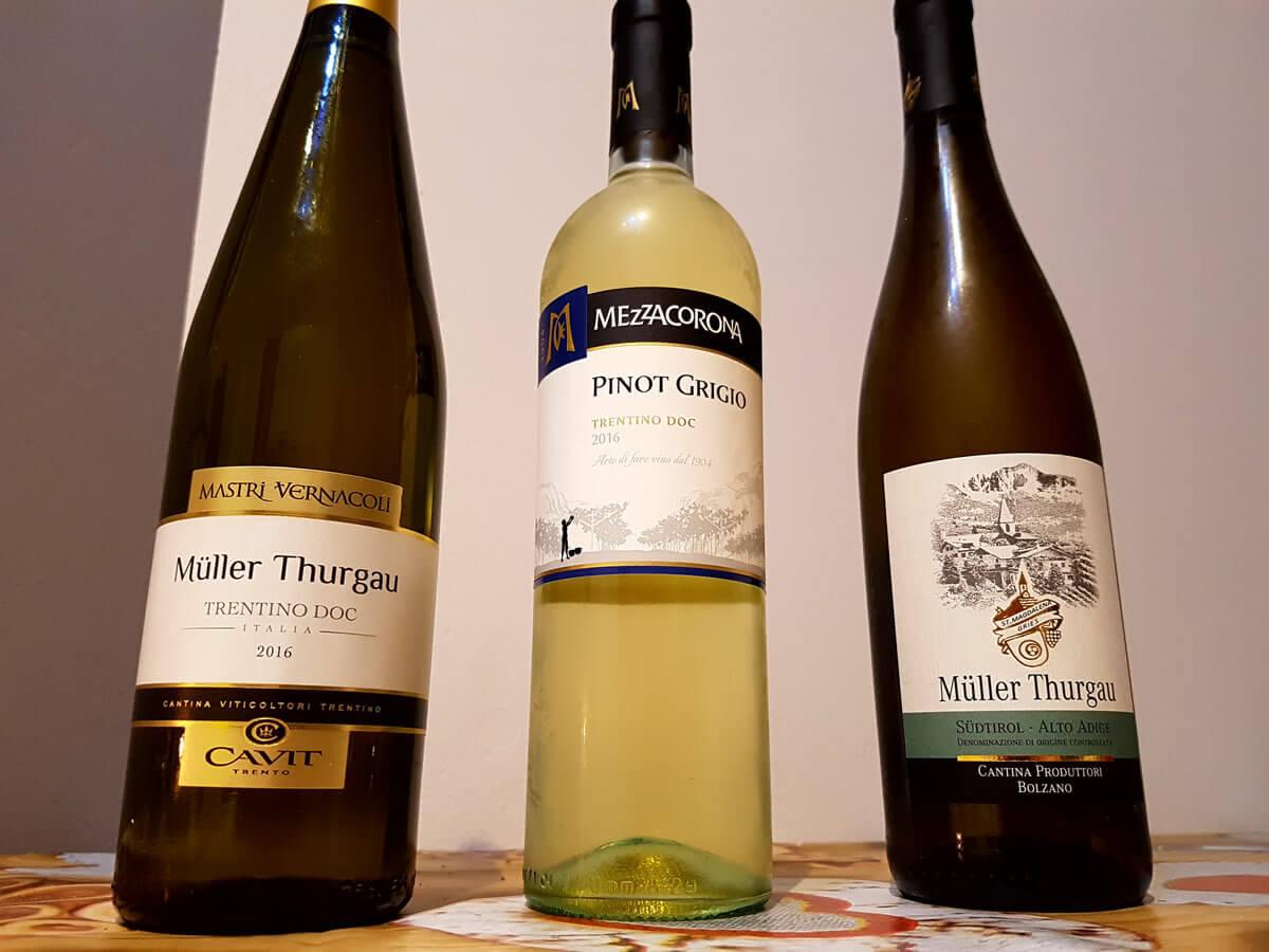 Vini del Trentino low-cost: 3 etichette a confronto