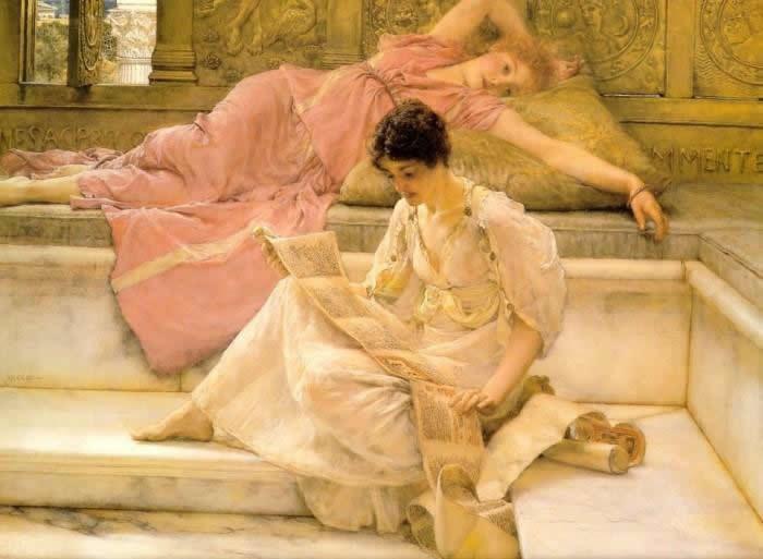 Lawrence-Alma-Tadema-Il-poeta-preferito