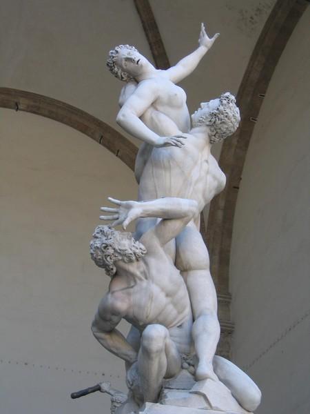 Ratto delle Sabine, opera di Giambologna