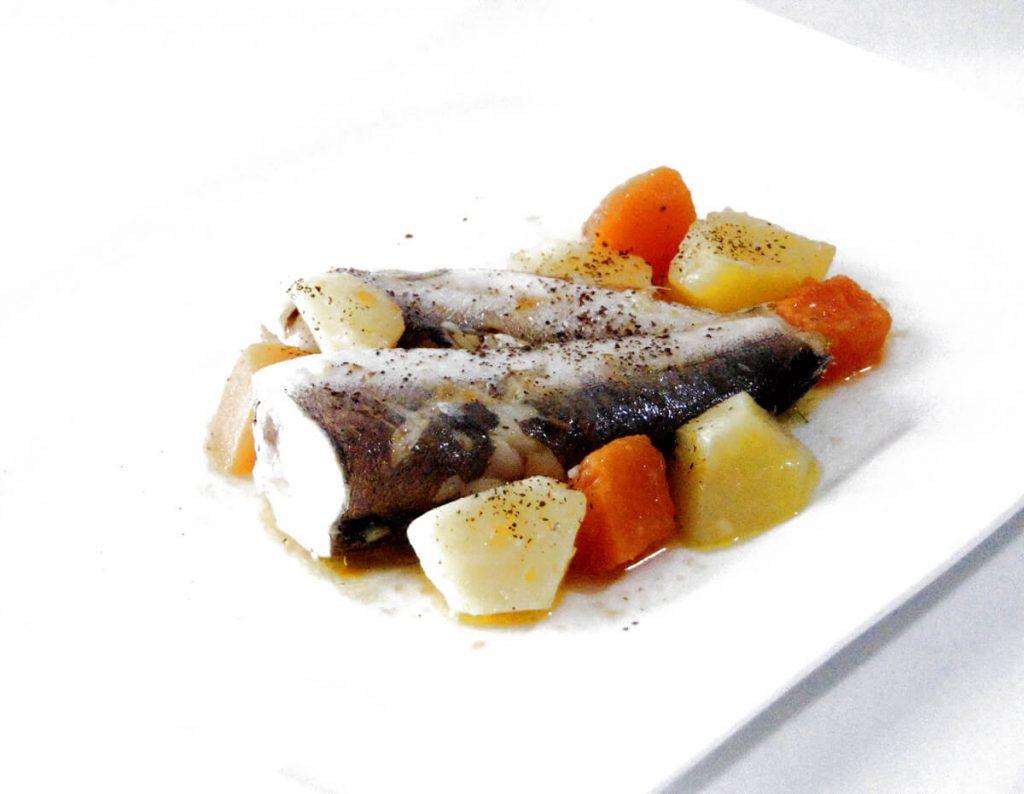 Merluzzo con patate e zucca, ricetta light