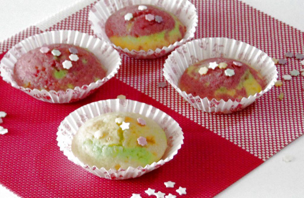 Muffin di Carnevale: colorati, soffici e allegri