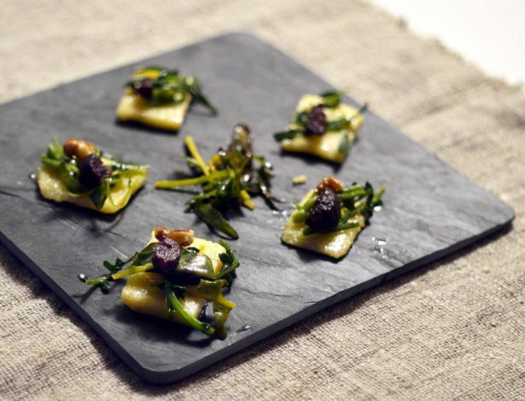 Polentine con Broccolo fiolaro e Boudin