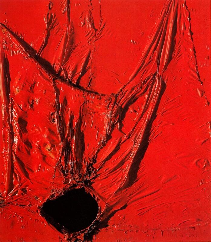 alberto-burri-rosso-plastica-1964