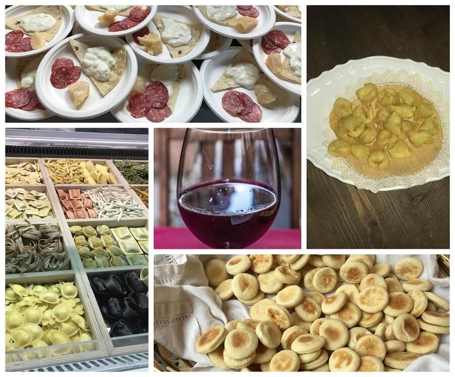 Notte bianca del cibo italiano in Romagna