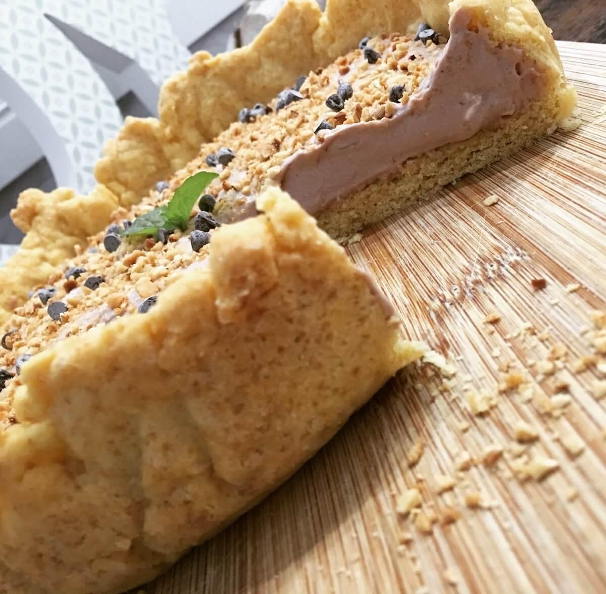 Veg-cake con mousse al cocco, torta vegana senza uova e zucchero