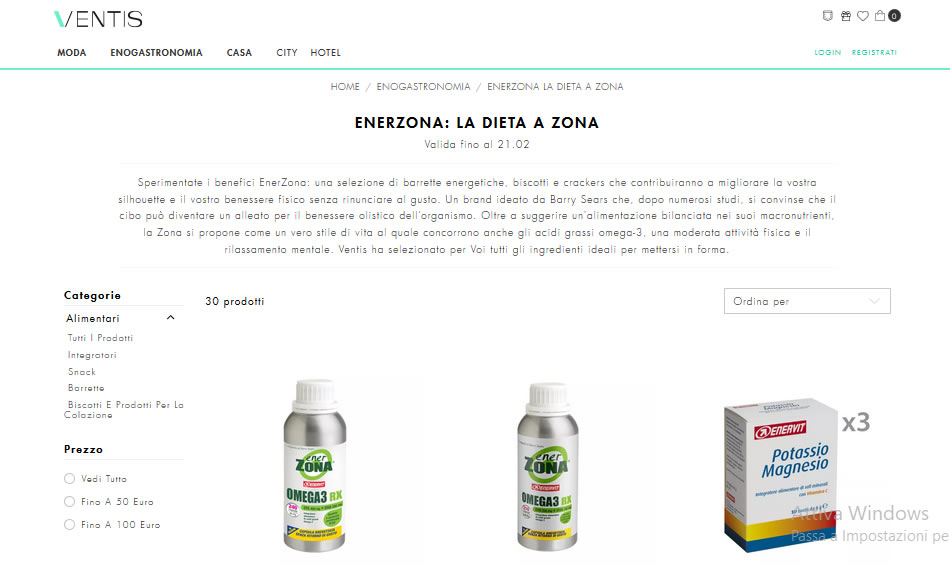 Acquisto on line di Enerzona su Ventis.it