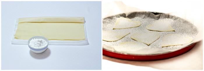 Millefoglie con crema di zafferano e lamponi