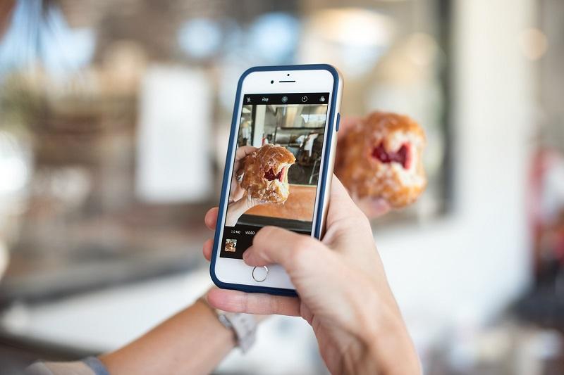 Condividere foto del cibo sui social