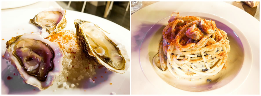 Pasta con le ostriche al Santamonica
