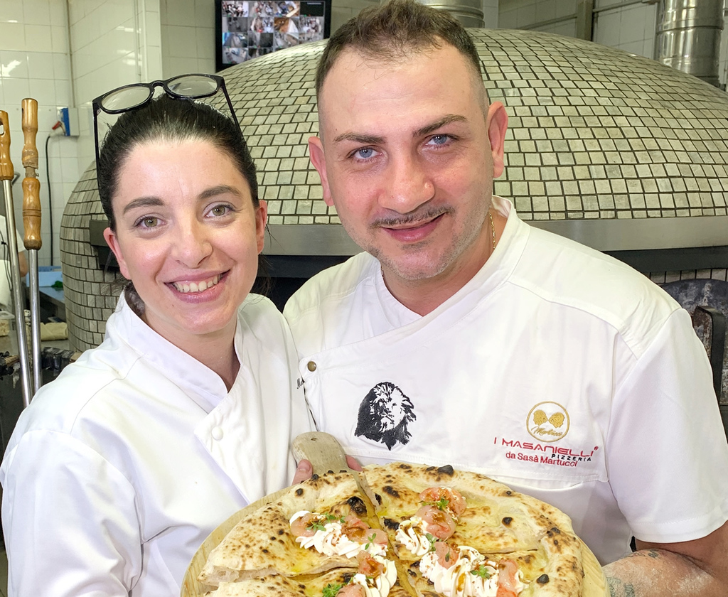 Con Sasà Martucci, pizza e bollicine made in Campania