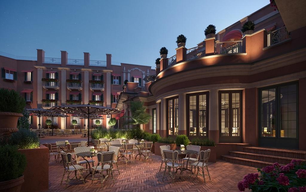 Hotel de la Ville Roma, torna a splendere con 3 ristoranti e 3 bar