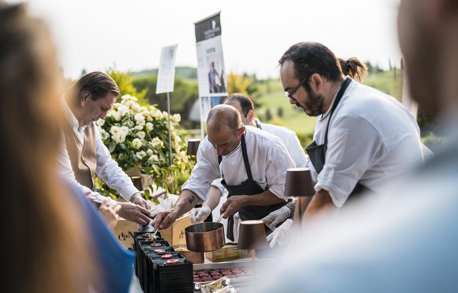 Chef presenti alla Cena spettacolo al Castello di Spessa