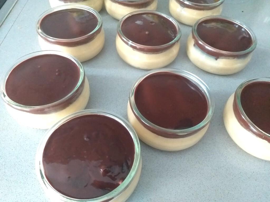 Mousse alla zucca e cioccolato fondente