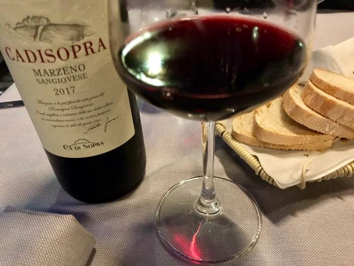 Carta dei vini della Locanda Il Cardello a Casola Valsenio