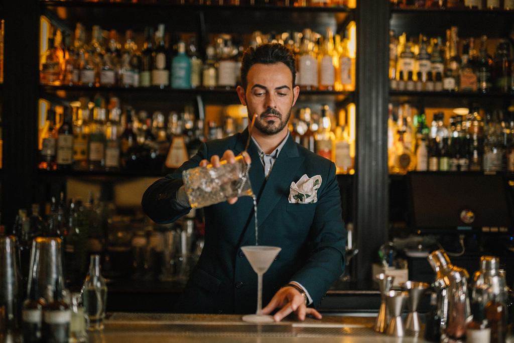 Mario Farulla e il drink Autumn in New York