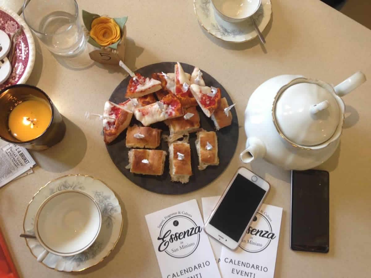 Una colazione tipo delle Blogging breakfast