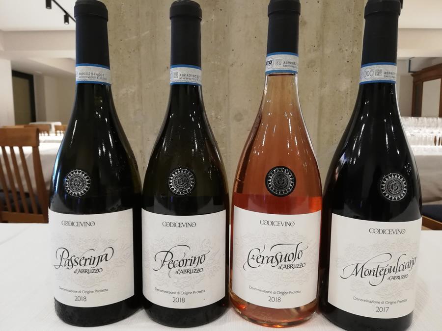 Quali sono i vini della linea Codice Vino
