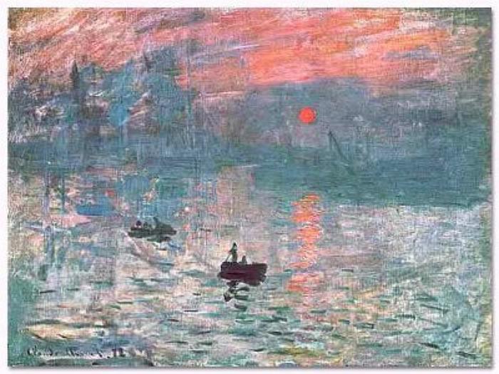 L'alba di Claude Monet