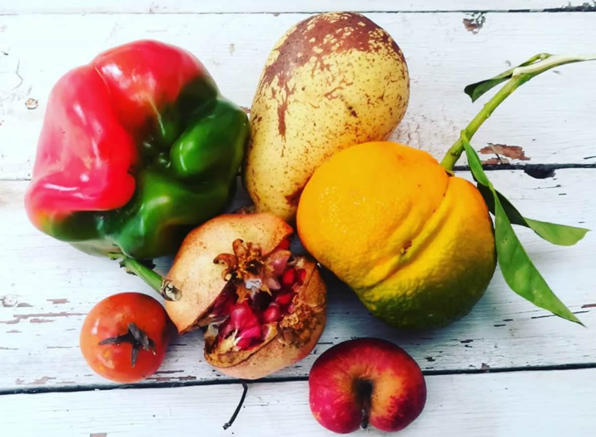 Frutta e ortaggi con difetti esterni