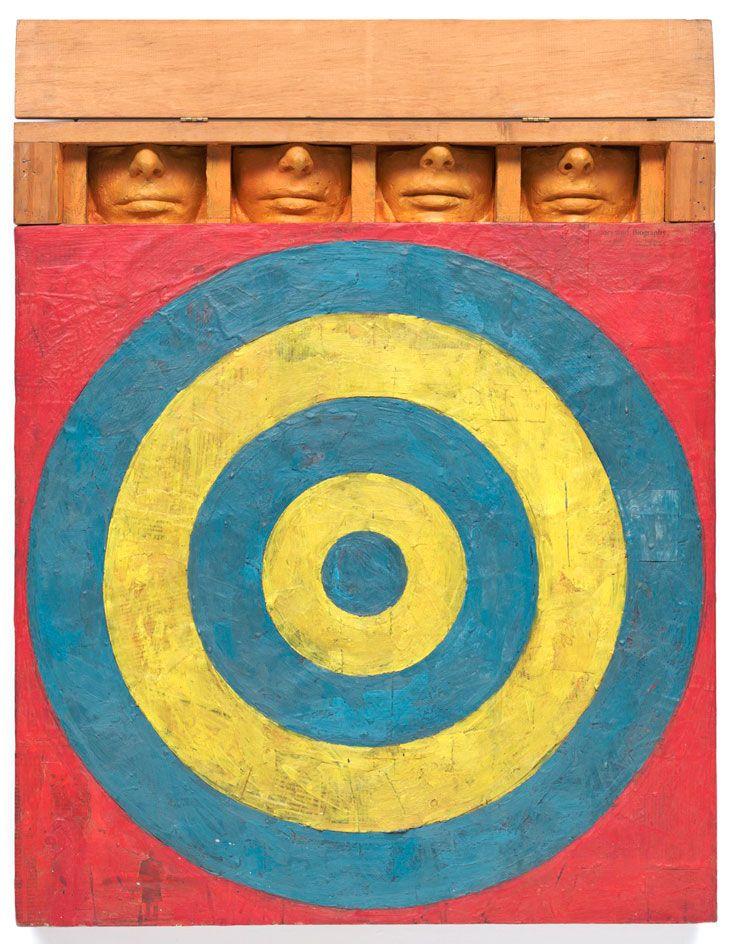 "Jasper Johns nel suo capolavoro ""Target with four faces"""