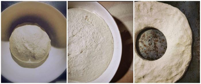 Prepatazione dell'impasto per la pitta
