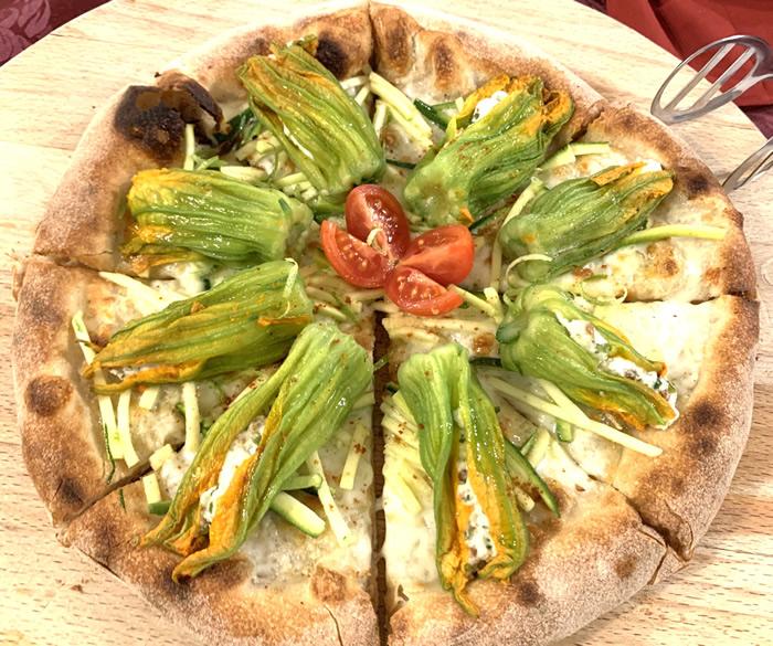 Pizza Fiori gialli…fiori di zucca
