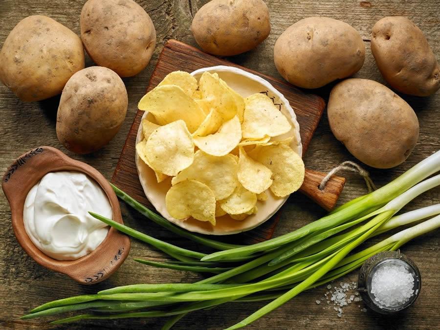 processo produttivo e aromi delle Chips di patate