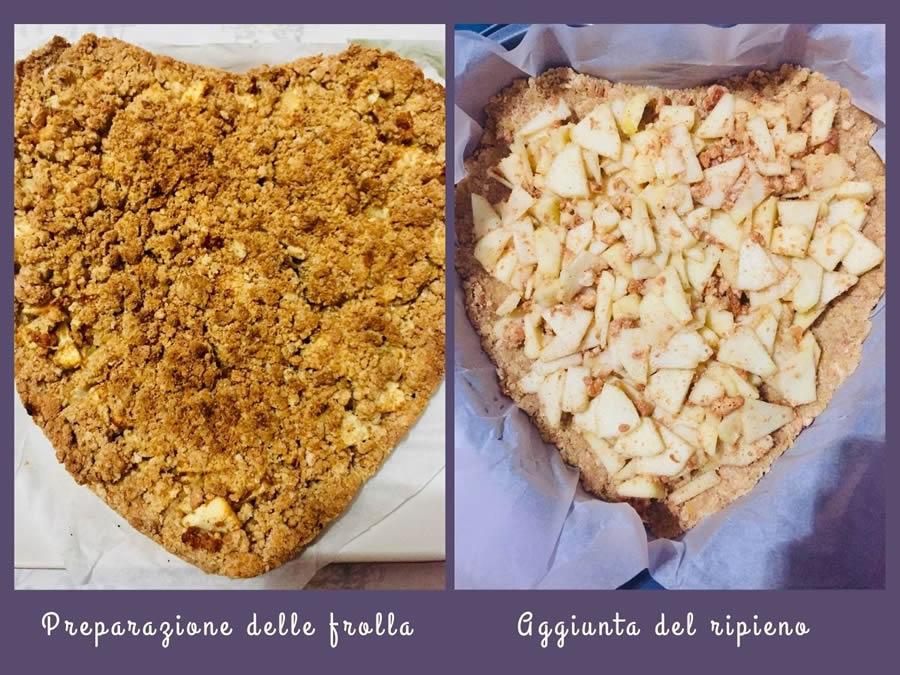 Torta Sbriciolata di mele e amaretti