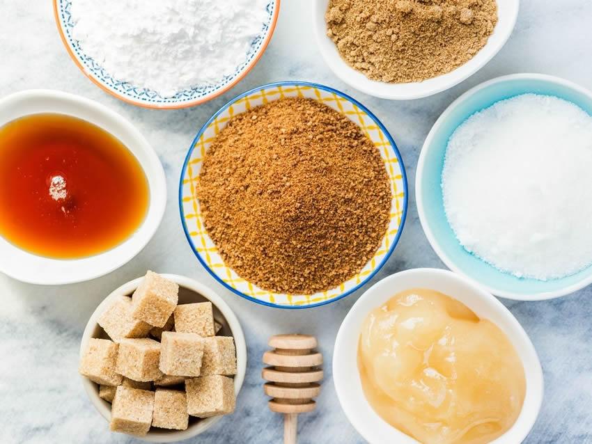 Varie alternative allo zucchero raffinato