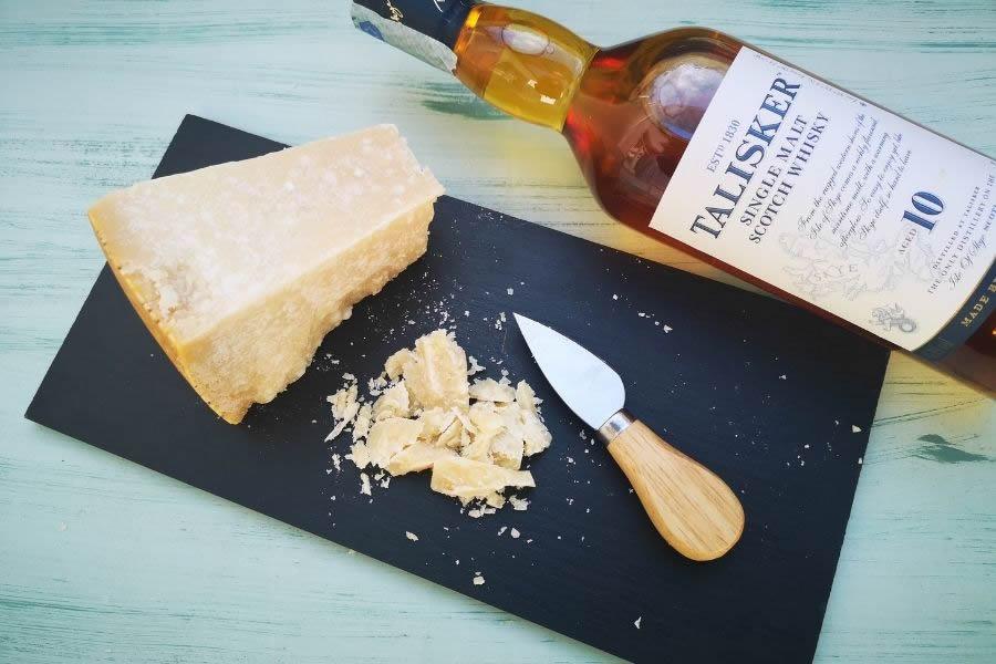 Whisky e con Parmigiano 72 mesi