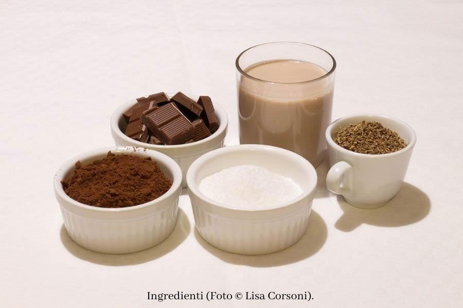 Ingredienti per Cioccolata calda alla nocciola e anice