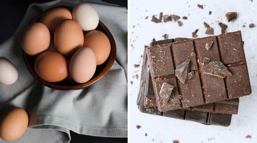 Uova e cioccolato fondente non sono da scartare nella dieta