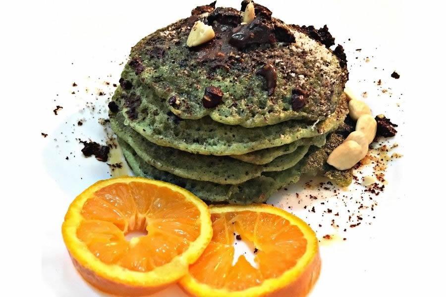 Pancake alla spirulina