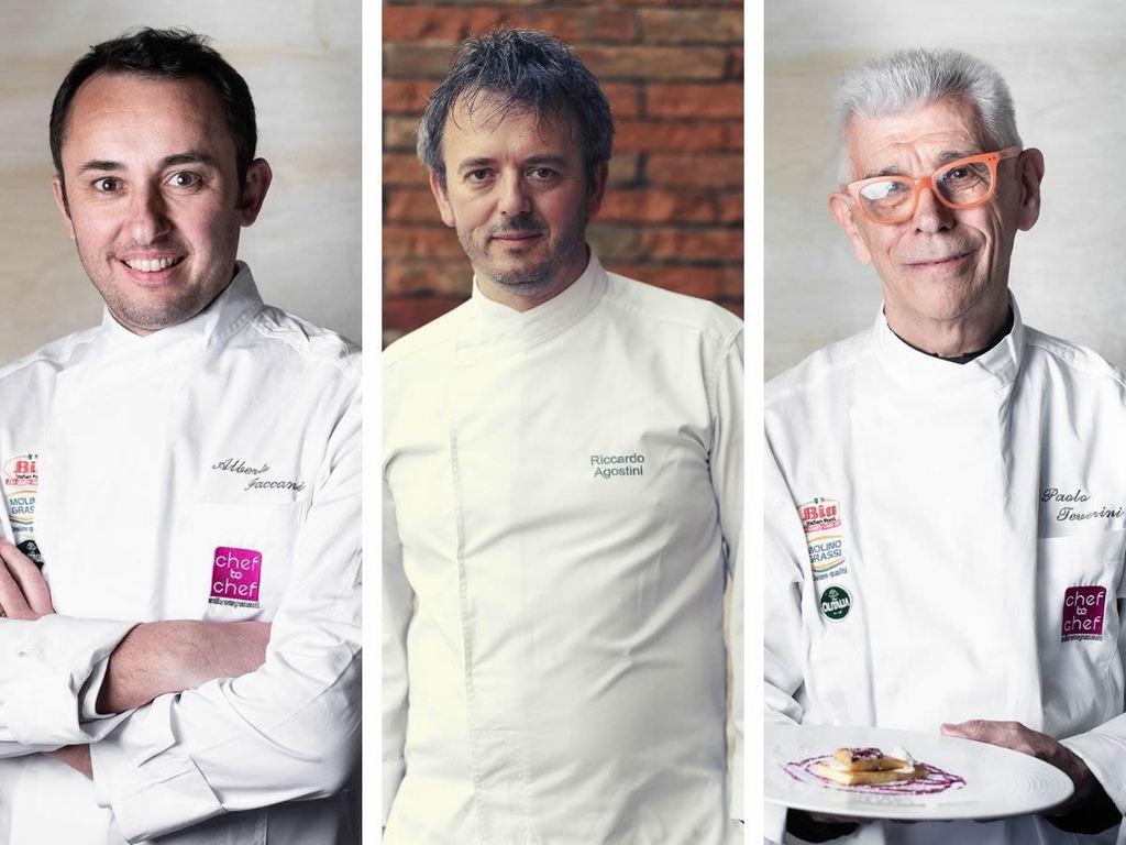Cena in Cava: menù chef Faccani, Agostini e Teverini