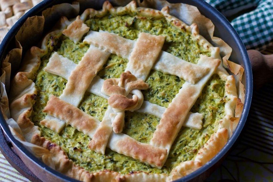 Torta salata ligure con Preboggion
