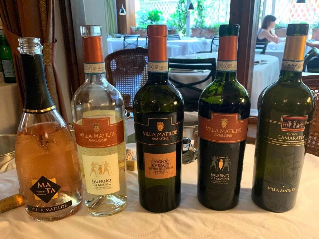 Vini Villa Matilde Avallone: abbinamenti al ristorante Al Ceppo